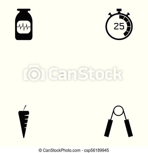 condicão física, jogo, ícone - csp56189945
