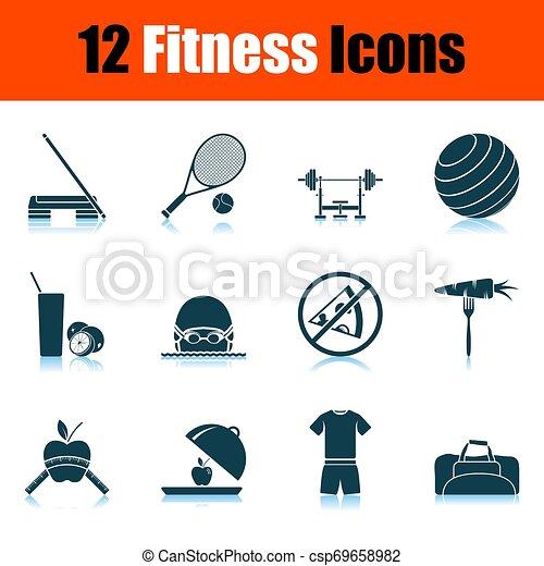 condicão física, jogo, ícone - csp69658982