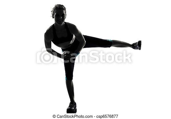 condicão física, malhação, mulher, postura - csp6576877