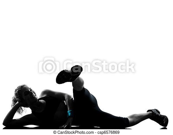 condicão física, malhação, mulher, postura - csp6576869