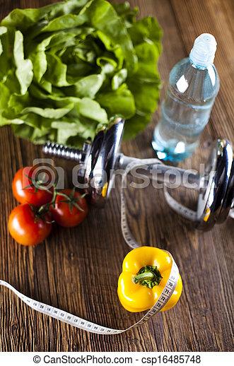 Dieta de vitaminas y fitness, tonto - csp16485748