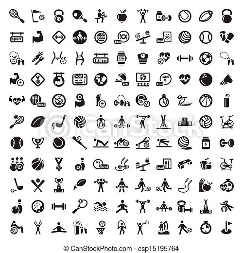 Grandes figuras y iconos dietéticos - csp15195764
