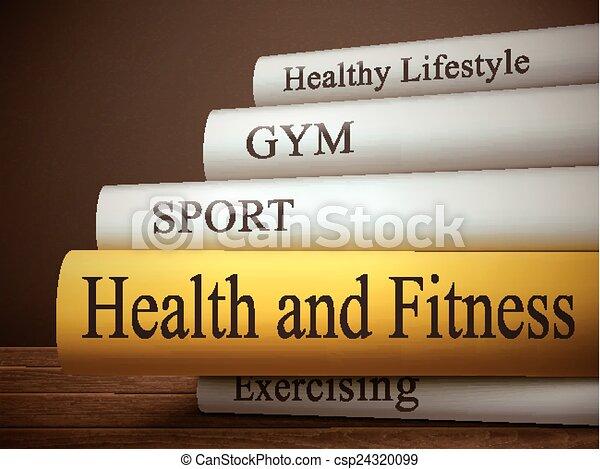 condición física, libro, salud, título - csp24320099