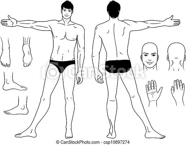 condizione uomo, nudo - csp10897274