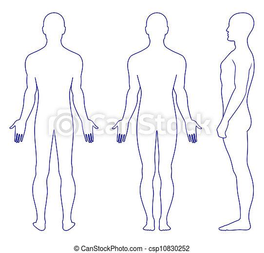 condizione uomo, nudo - csp10830252