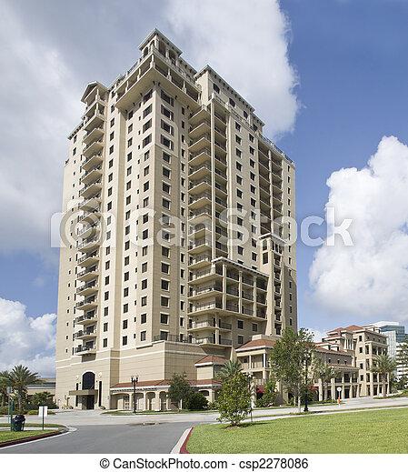 Multi historia de lujo condominios - csp2278086