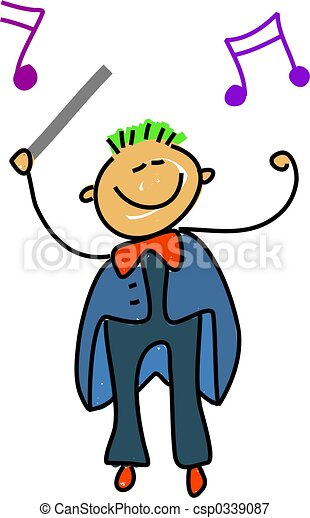 conductor kid i want to be an orchestra conductor when i stock rh canstockphoto com conductor hat clipart conductor hat clipart