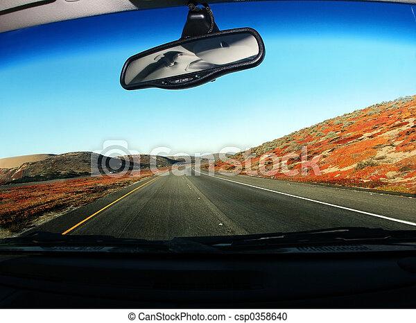 conduite, route - csp0358640