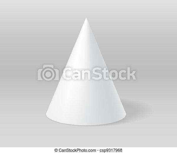 cone, gesso, branca, cinzento, cena - csp9317968