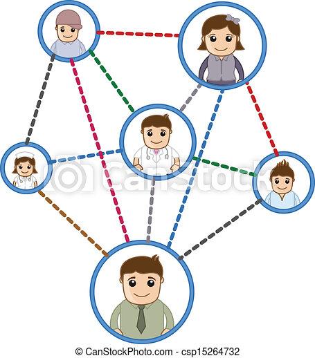 Gente conectada en la red - csp15264732