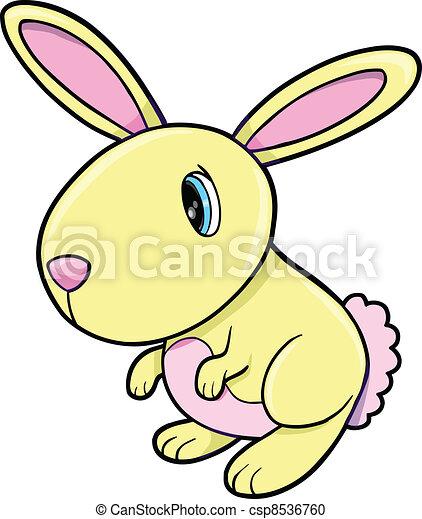 Lindo conejito amarillo animal - csp8536760