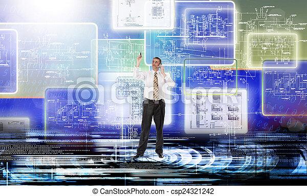 conexão, tecnologia - csp24321242