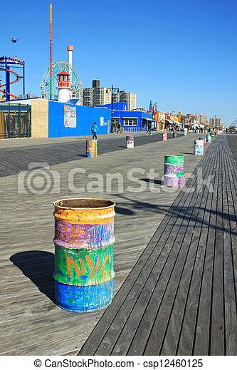 Coney Island boardwalk - csp12460125