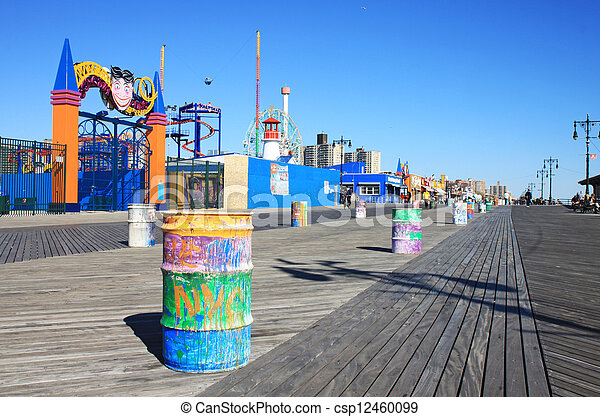 Coney Island boardwalk - csp12460099
