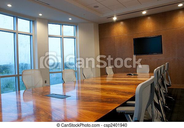 conférence, bâtiment, salle, bureau, nouveau - csp2401940