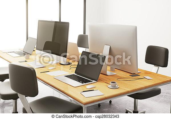 Meuble bureau bois bureau ordinateur design voiles