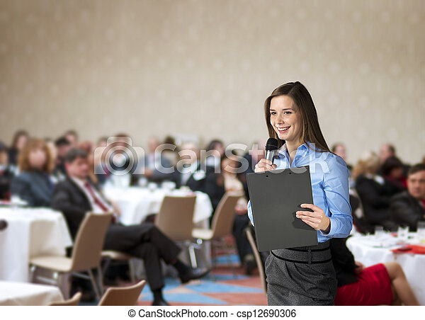 conférence, business - csp12690306