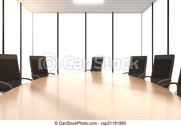 Conférence chaises rond bureau table