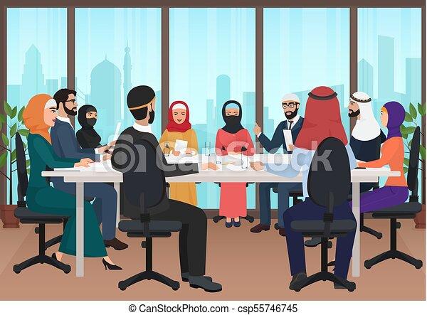 Conférence plat moderne bureau professionnels réunion