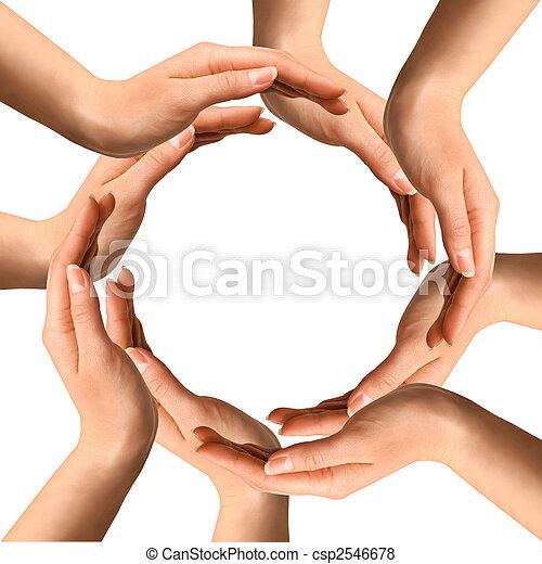 confection, cercle, mains - csp2546678