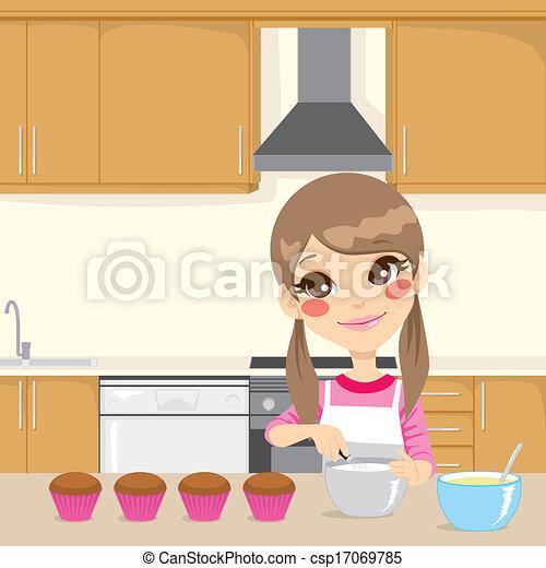 Confection cr me fouett cuisine tablier peu petits for Confection cuisine