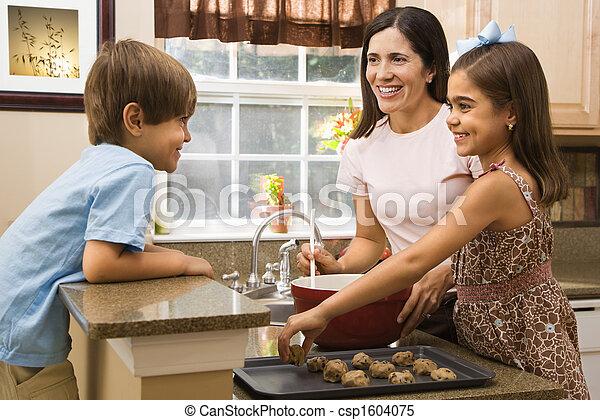confection, famille, cookies. - csp1604075