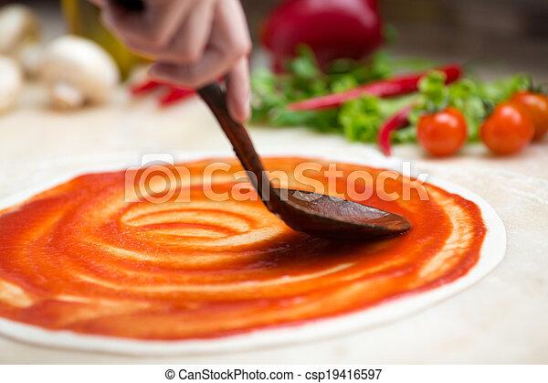 confection, italien, pizza - csp19416597