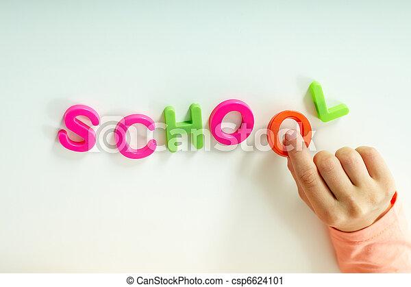 confection, mot, ?school? - csp6624101