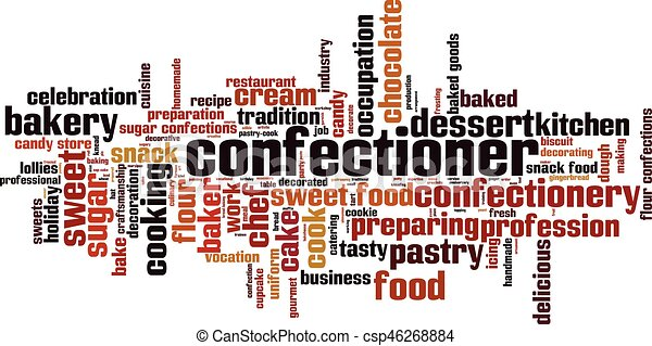 Confectioner word cloud - csp46268884