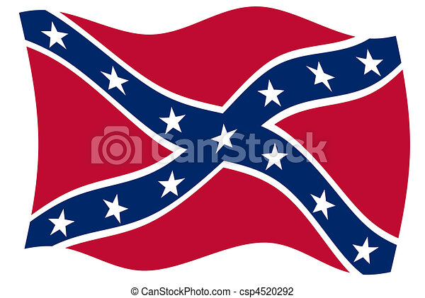 clip art of confederate flag - confederate rebel flag of southern