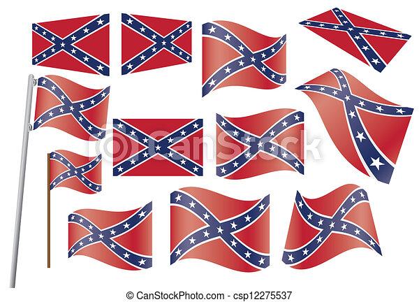 Confederate flag - csp12275537