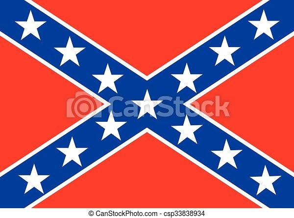 Confederate flag - csp33838934