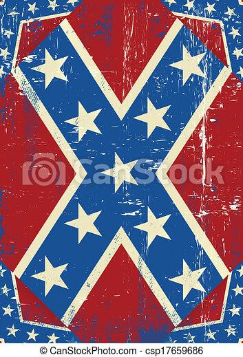 Confederate grunge background - csp17659686