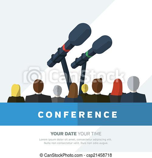 conferência, ilustração - csp21458718