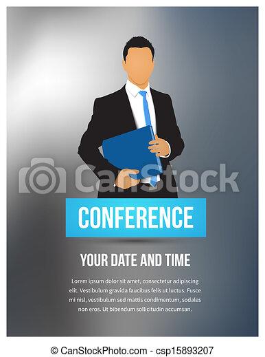 conferência, ilustração - csp15893207