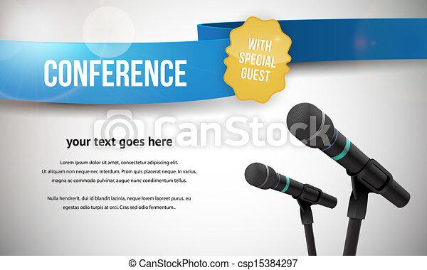 conferência, ilustração - csp15384297