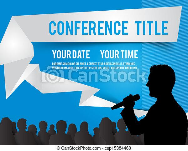 conferência, ilustração - csp15384460