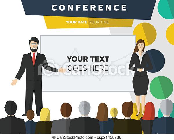conferência, ilustração - csp21458736