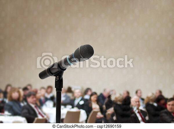 conferência, negócio - csp12690159