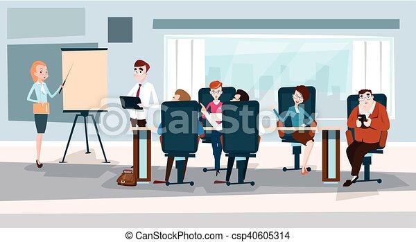 conferência, treinamento, pessoas negócio, mapa, inverter, brainstorming, equipe, apresentação, seminário - csp40605314