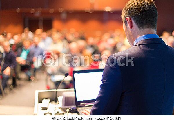 conference., スピーカー, 公衆, ビジネス - csp23158631