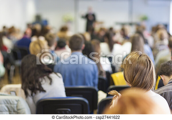 conference., 光景, 背中, 人々 - csp27441622