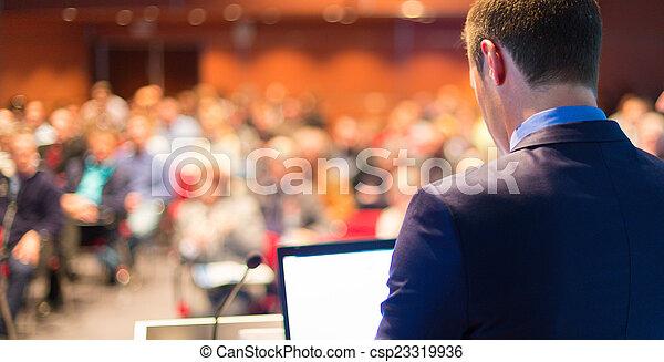conference., altoparlante, pubblico, affari - csp23319936