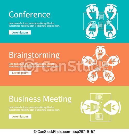 Conference, business meeting and brainstorming - csp26719157