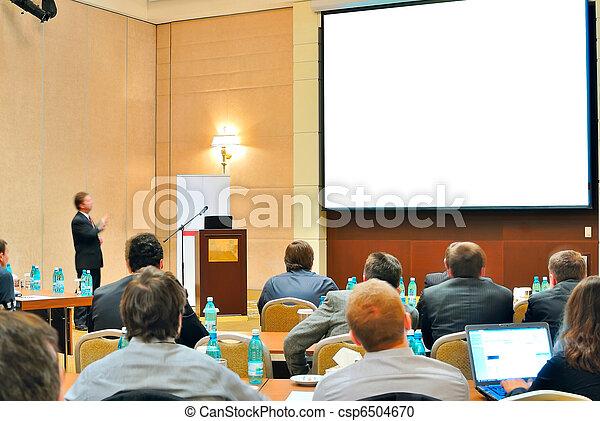 conference, presentation in aditorium - csp6504670