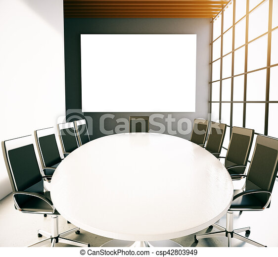 Phenomenal Conference Room With Empty Whiteboard Squirreltailoven Fun Painted Chair Ideas Images Squirreltailovenorg