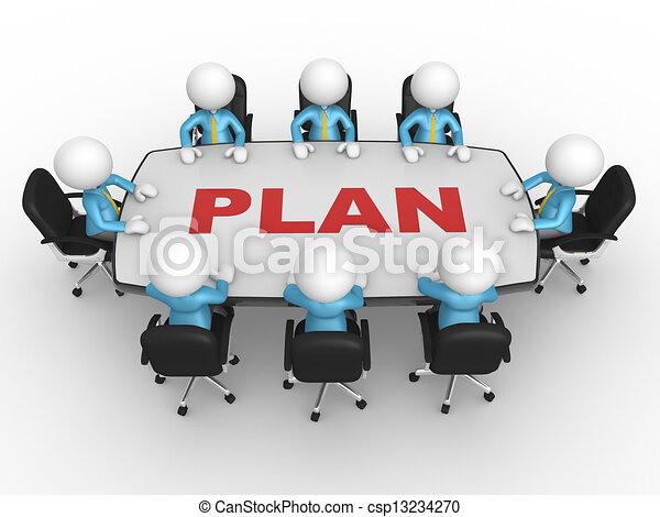 Conference table - csp13234270