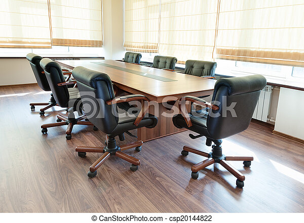Conference Table In Modern Office Interior - 144 conference table
