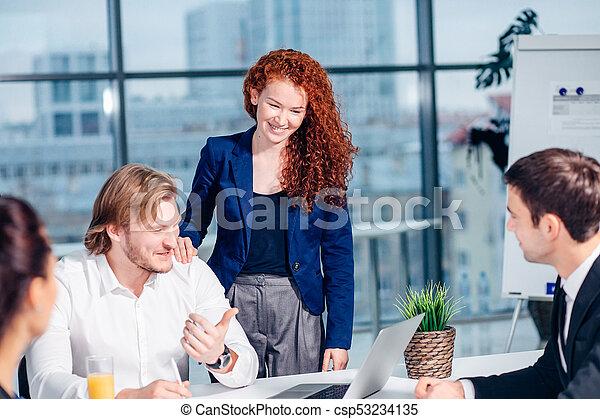 Conferencia Empresarios Reunión Discusión Corporativo