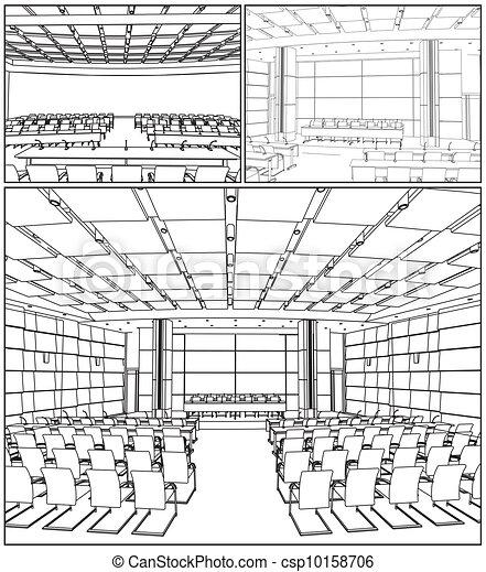 El interior de la sala de conferencias - csp10158706